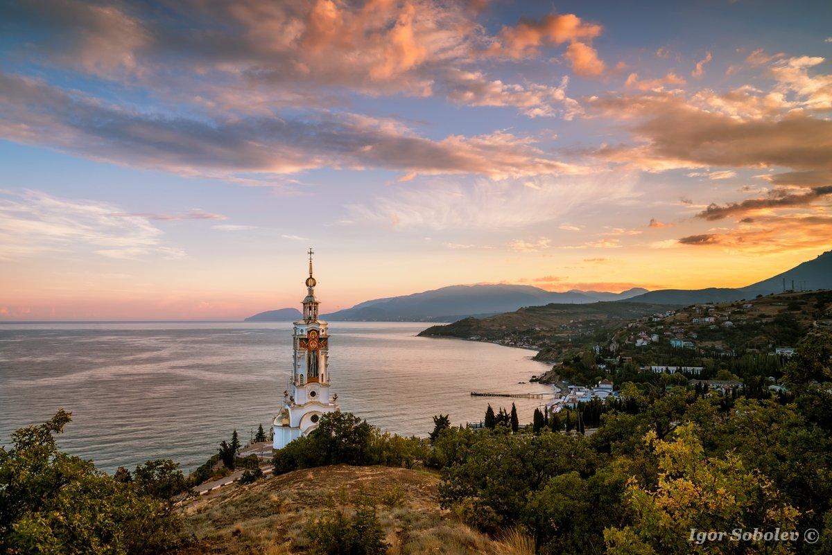 Church-lighthouse of St. Nicholas the Wonderworker in Malorechenskoye