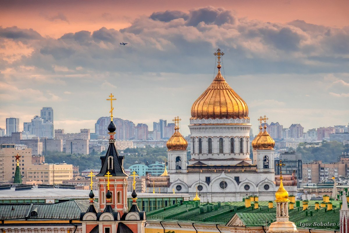 Domes of the Cathedral of Christ the Savior and the Epiphany Church