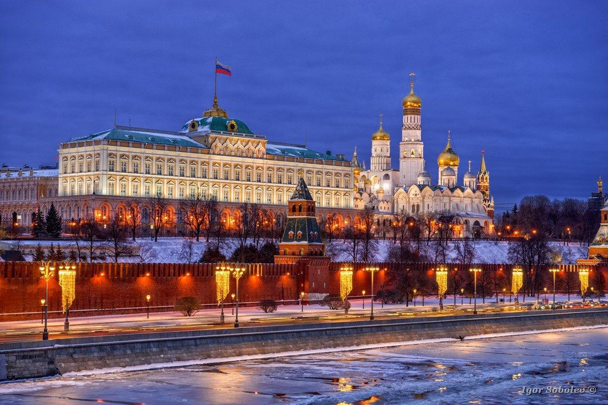 Moscow Kremlin on a winter night