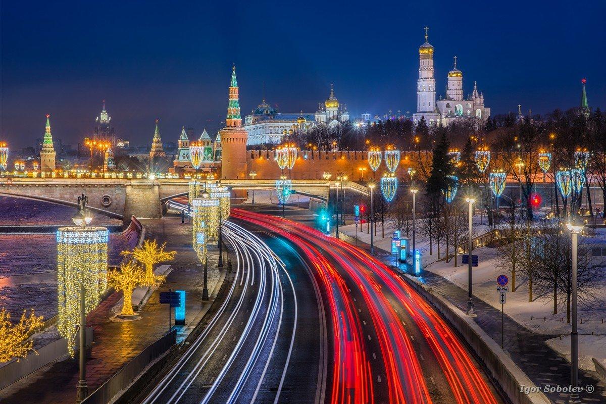 Траффик у Московского кремля