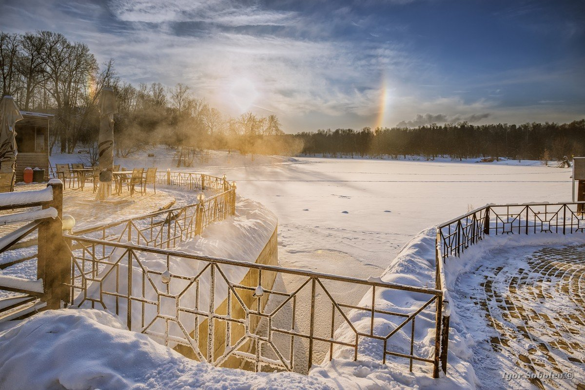 Winter rainbow in Moscow