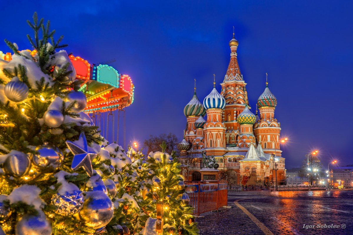St. Basil's Cathedral on a winter morning