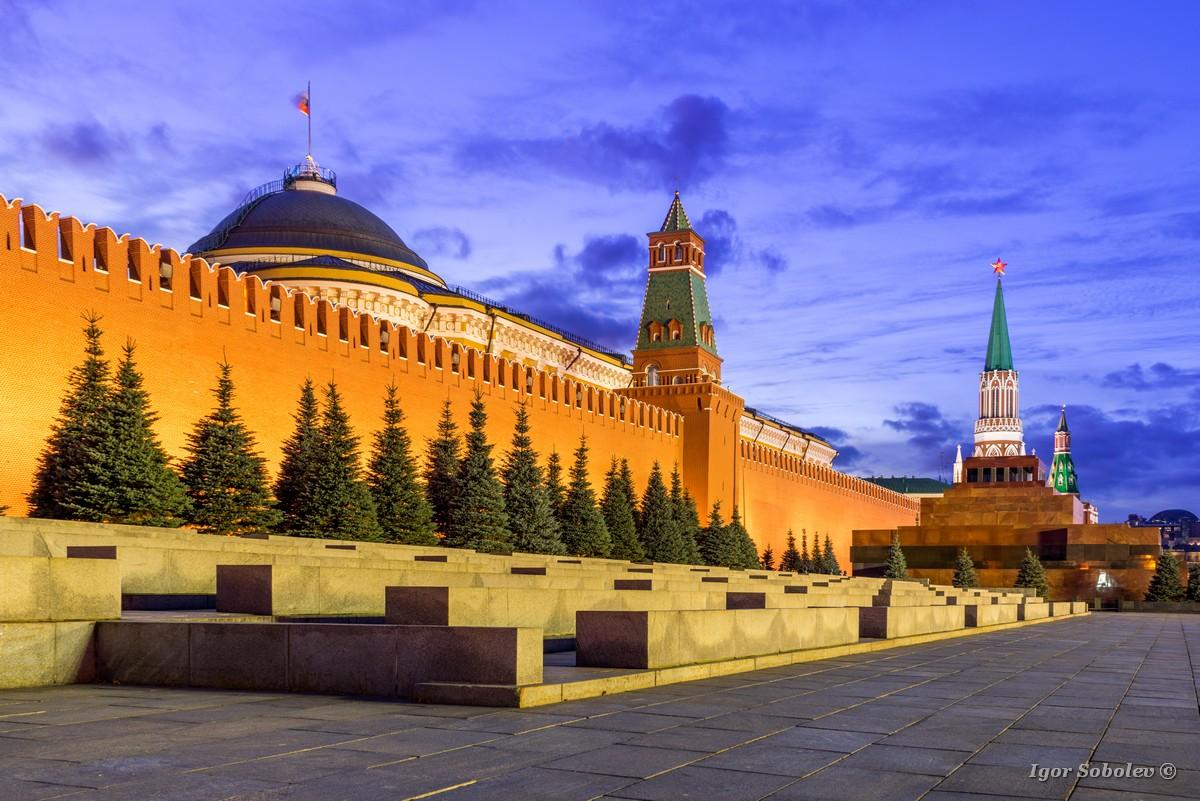 The Mausoleum, Nikolskaya Tower, the Kremlin Wall on Red Square