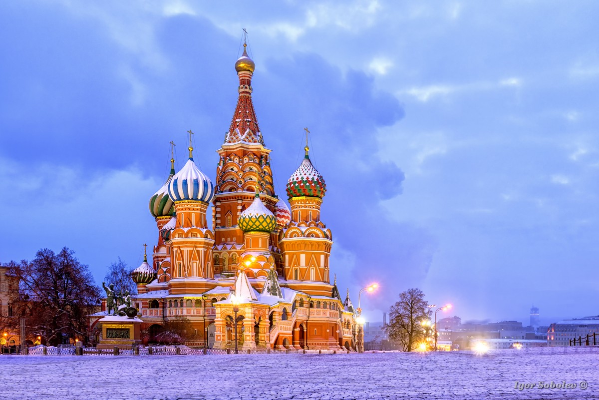 Собор Василия Блаженного зимним утром