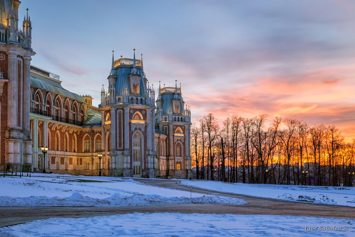 Закат в Царицыно