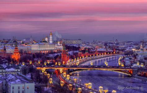 Московский кремль на закате