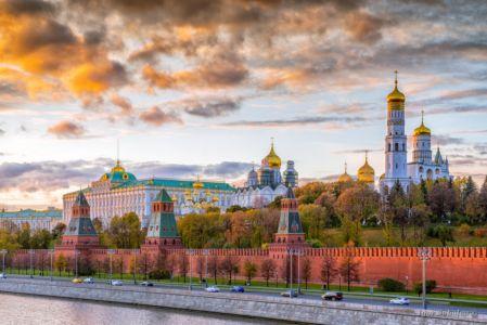 Московский кремль вечером