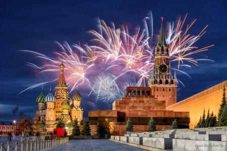 Салют на Кремлем