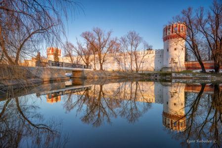 Новодевичий монастырь весной