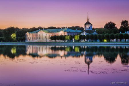 Kuskovo Park at sunset