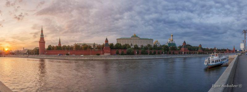 Панорама заката у Московского крем