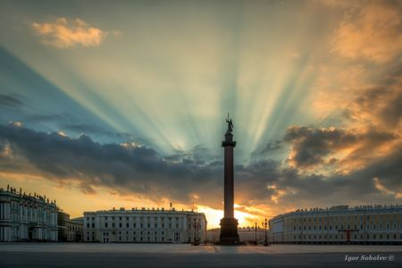 Alexander Column. Palace Square.