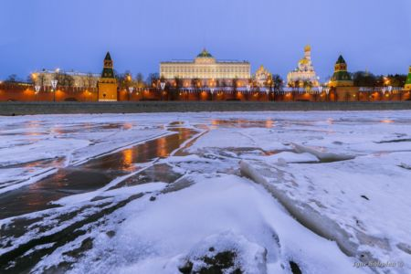 Moscow. Kremlin. Grand Kremlin Palace in winter