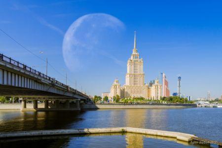 Луна и гостиница Украина Рэдиссон