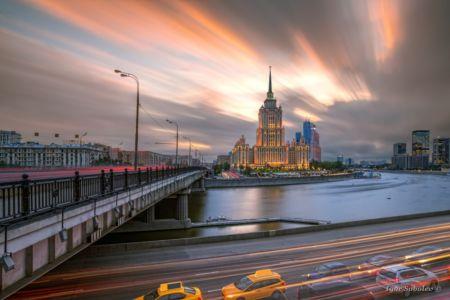 Гостиница Украина на закате