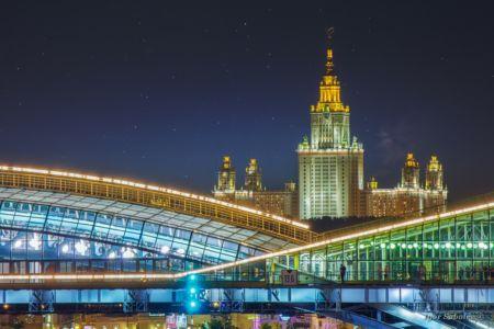 Здание МГУ и мост Богдана Хмельницко