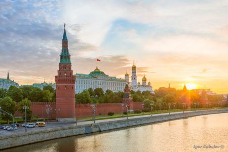 Московский кремль на рассвете