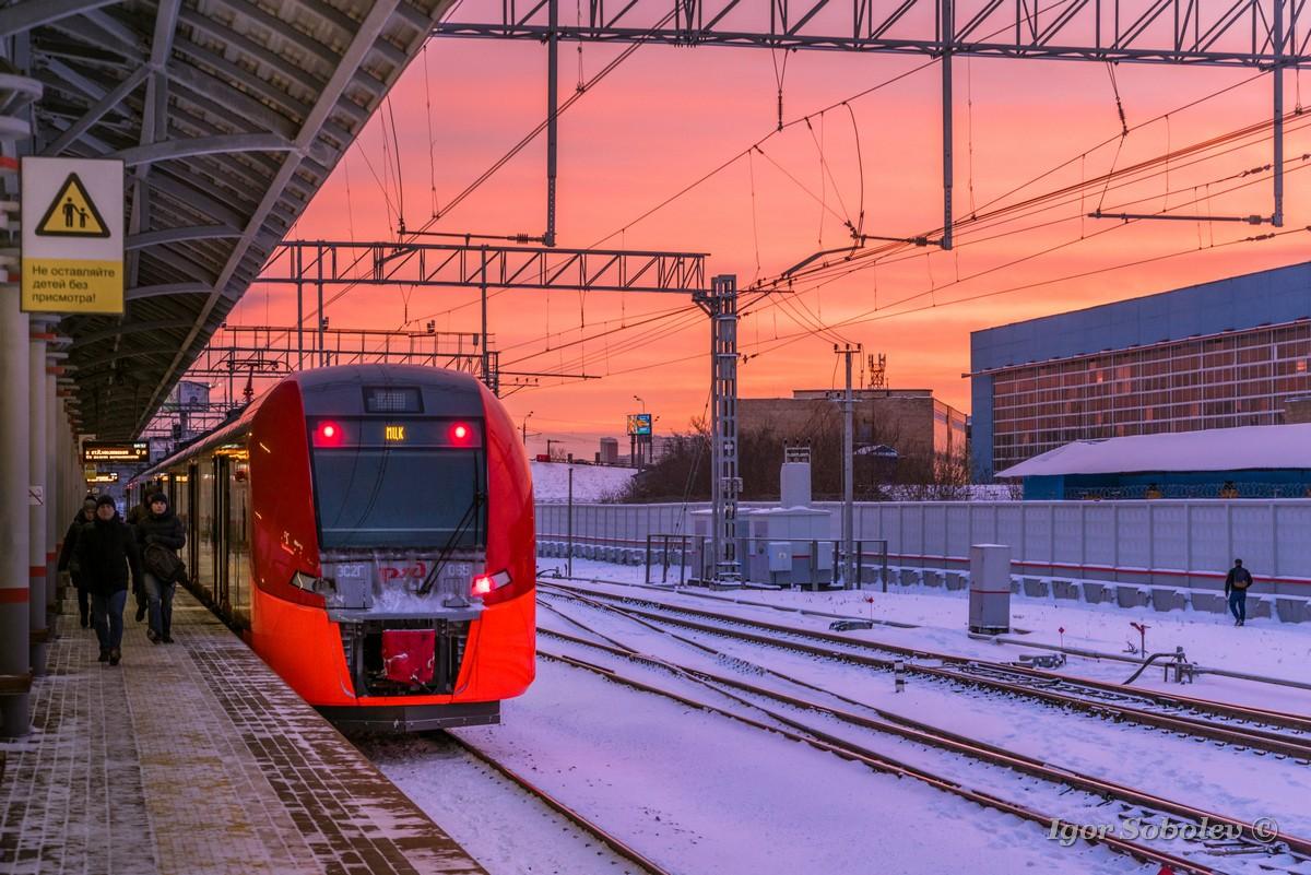 Замний рассвет на МЦК / Sunset dawn at the MCC