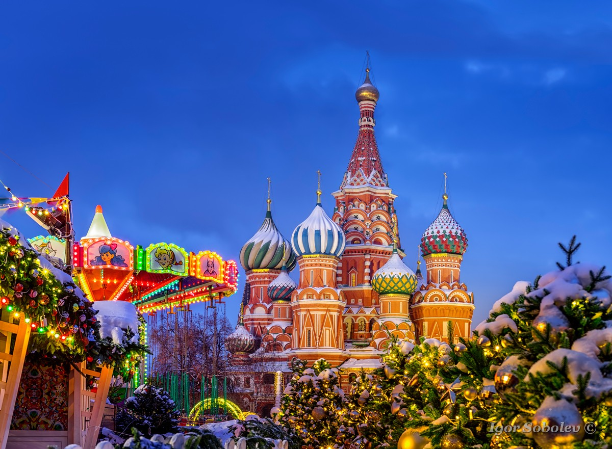 Basil's Cathedral on a winter morning