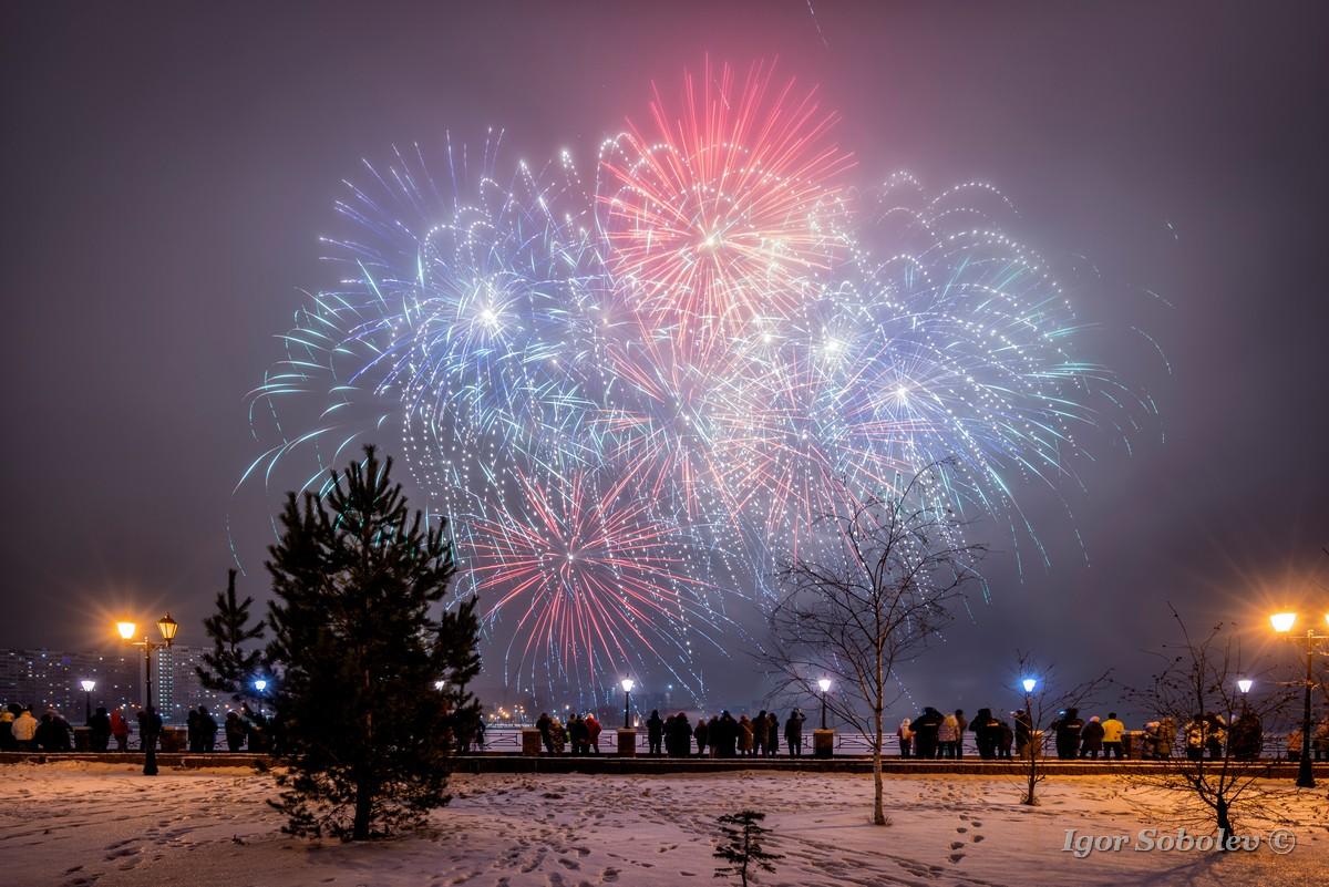 Новогодний салют в Печатниках