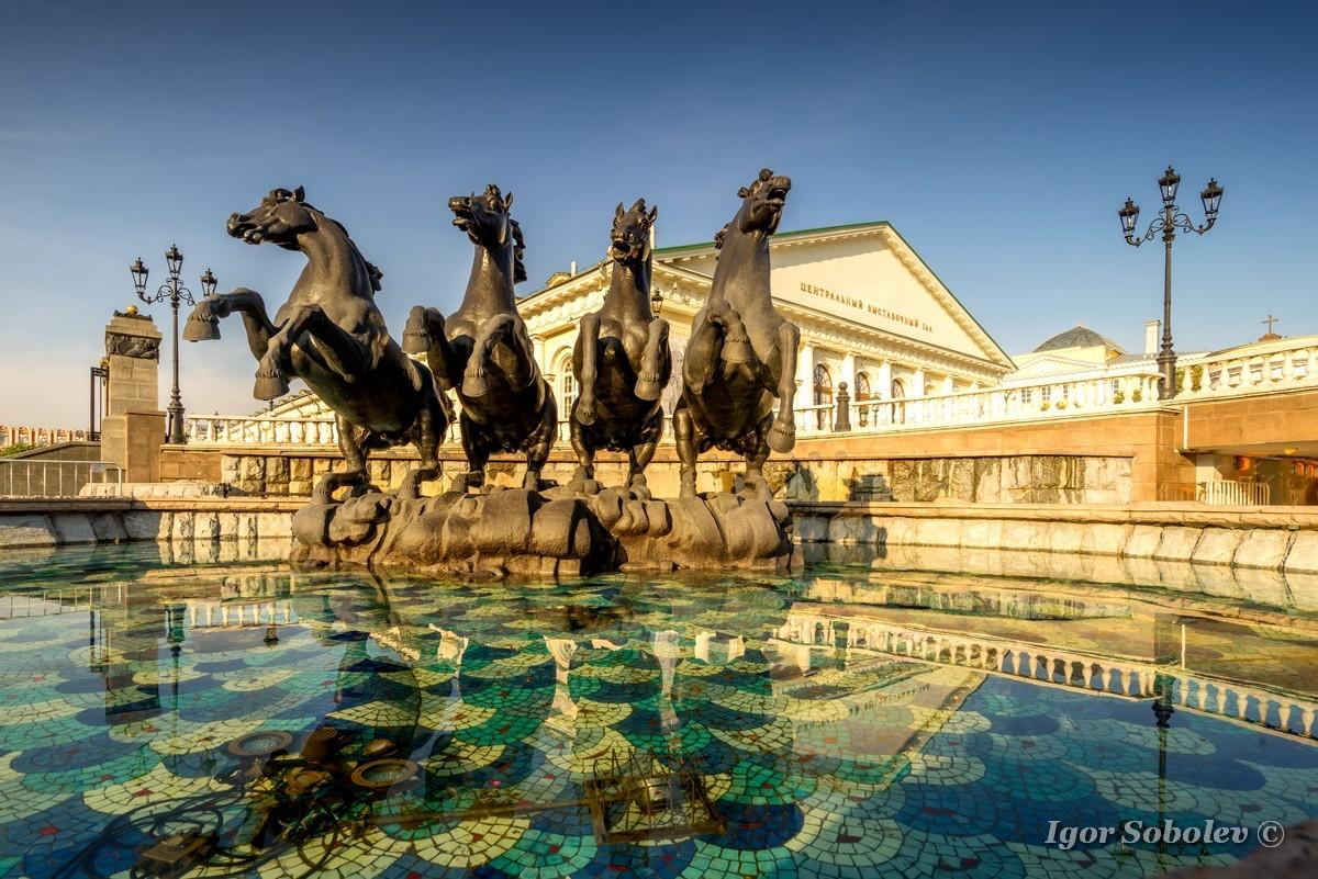 Фонтанный комплекс Александровского сада / Fountain complex of the Alexander Garden