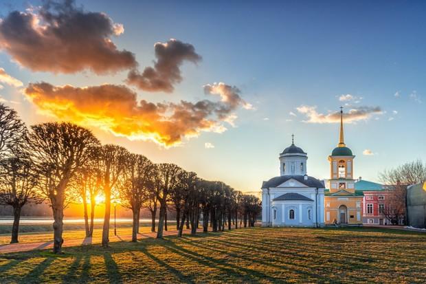 Закат в Кусково