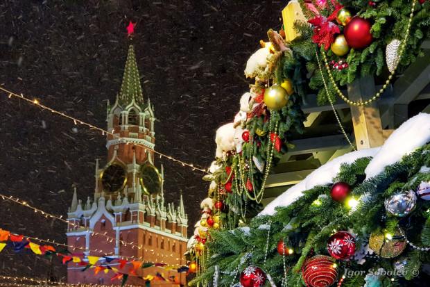 Новый год и Спасская башня