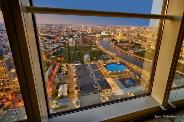 Вид из окон Москва-сити