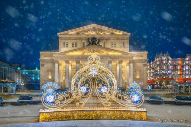 Большой театр зимой