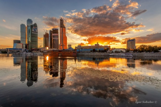 Москва-сити на закате