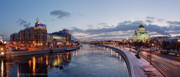 Панорамный вид с Большого каменного моста.