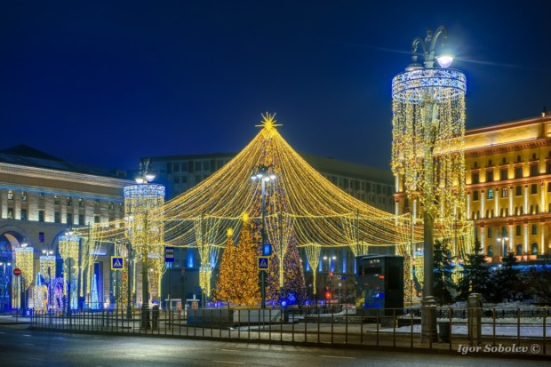 Ёлка на Лубянской площади